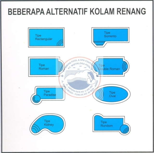 Jasa Pembuatan Kolam Renang Jasa Pembuatan Kolam Renang Pribadi Kolam Renang Umum Spa Sauna Waterboom Permainan Kolam Renang Lapangan Futsal Tennis Accesories Equipment Chemical Swimming Pool